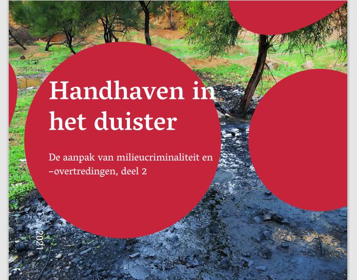 Voorblad rapport Handhaven in het duister